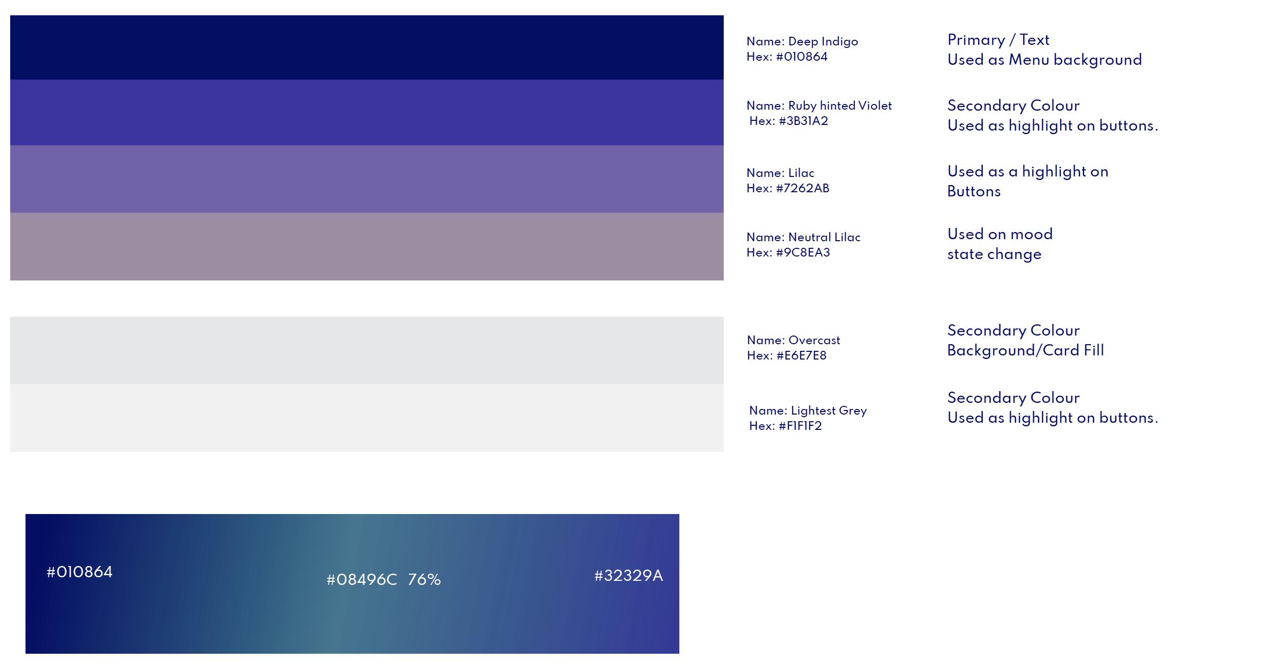 uwave period app ui colors