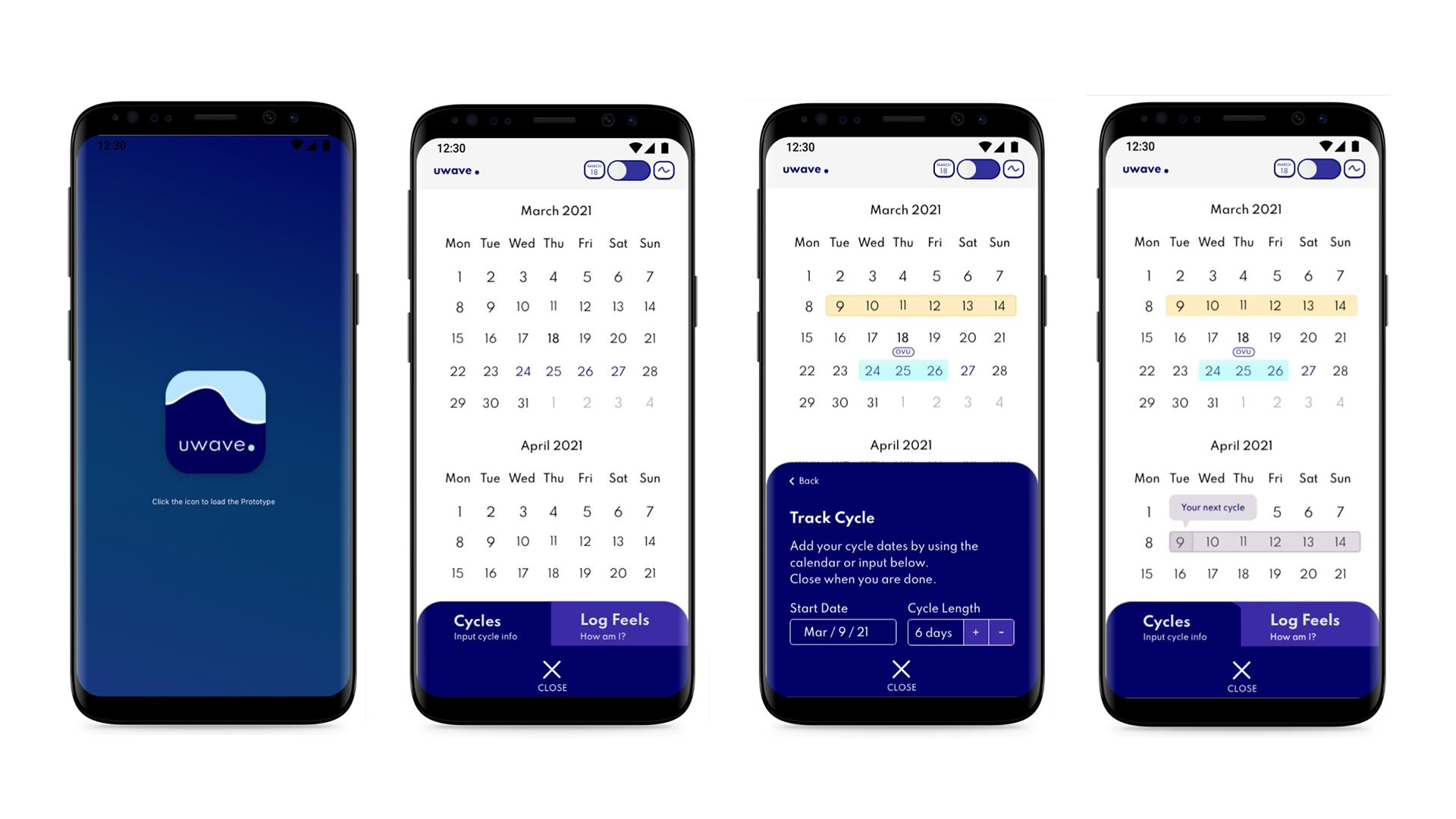 designing a period app high fidelity